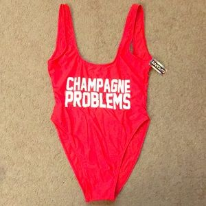 "Ravesuits one piece swimsuit ""Champagne Problems"""